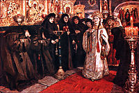 Tsarevna-s visit of nunnery, 1912, surikov