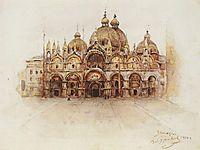 Venice. Saint Mark-s Basilica., 1900, surikov
