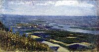 View of Krasnoyarsk from knoll, c.1892, surikov
