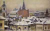 View of Kremlin, 1913, surikov