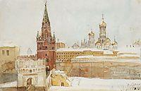 View of Kremlin at winter, 1876, surikov