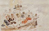 Yermak-s conquest of Siberia (study), surikov