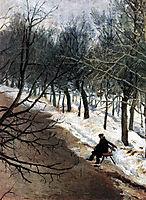 Zubovsky boulevard in winter, c.1886, surikov