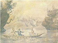 American Indians in the boat, c.1812, svinyin