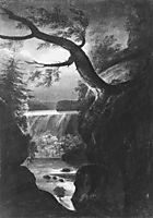Niagara Falls Canadian Side by Moonlight, c.1812, svinyin