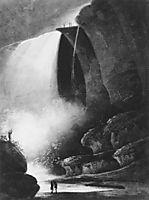 Niagara Falls Table Rock by Moonlight, c.1812, svinyin