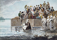 A Philadelphia Anabaptist Immersion during a Storm, c.1812, svinyin