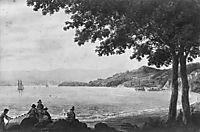 Shad Fishermen on the Shore of the Hudson River, c.1812, svinyin