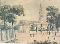 St. Paul-s Cathedral in New York, c.1812, svinyin