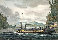 Steamboat Travel on the Hudson River, c.1812, svinyin