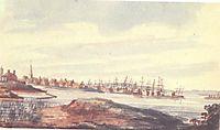 Town on the riverside, c.1812, svinyin