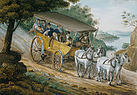 Travel by Stagecoach Near Trenton, c.1812, svinyin