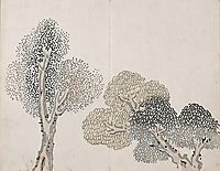 Untitled (a tree with small leaves), taiga