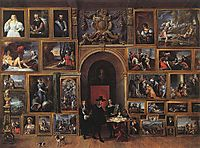 Archduke Leopold Wilhelm of Austria in his Gallery, 1651, teniers