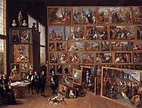 The Archduke Leopold Wilhelm in his Picture Gallery in Brussels, 1651, teniers
