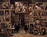 The Archduke Leopold Wilhelm in his Picture Gallery in Brussels, c.1647, teniers