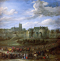 Arrival of Christina of Sweden in Brussel, teniers