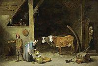 A Barn Interior, c.1650, teniers