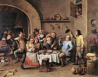 Carnival: -The King Drinks-, 1690, teniers