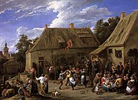 Country Kermess, c.1650, teniers