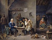 Figures Gambling in a Tavern, teniers