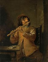 The Flautist, c.1635, teniers