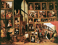 The Gallery of Archduke Leopold in Brussels, 1639, teniers