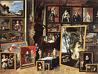 The Gallery of Archduke Leopold in Brussels, 1641, teniers
