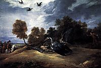 Heron Hunting with the Archduke Leopold Wilhelm, c.1654, teniers