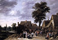 The Kermess at the Half Moon Inn, 1641, teniers