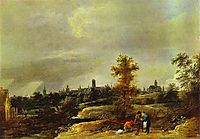 Landscape in the Suburbs of Brussels, c.1645, teniers