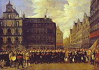 Members of Antwerp Town Council and Masters of the Armaments Guild, teniers