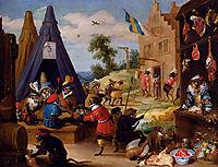 A Monkey Encampment, 1633, teniers