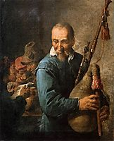 The Musette Player, c.1637, teniers