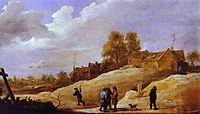 On the Outskirts of a Town, teniers