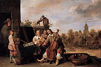 The Painter and His Family, c.1645, teniers