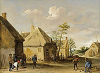 Peasants Bowling in a Village Street, c.1650, teniers