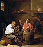 Smokers in an Interior, c.1637, teniers