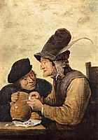 Two Drunkards, c.1635, teniers