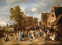 Village Revel with Aristocratic Couple, teniers