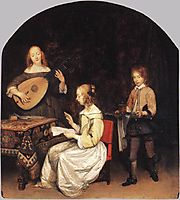 The Concert: Singer and Theorbo Player, terborch