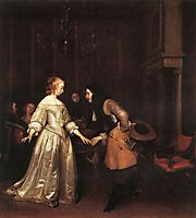 The Dancing Couple, 1660, terborch