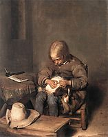 The Flea-Catcher (Boy with his Dog), c.1655, terborch