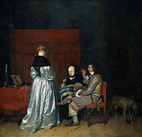 Gallant Conversation (The Paternal Admonition), c.1654, terborch