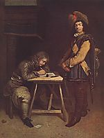 Officer Writing a Letter, terborch
