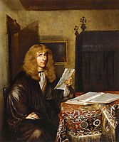 Portrait of a Man Reading, c.1675, terborch