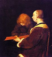 The Reading Lesson, terborch