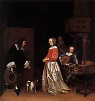 The Suitor-s Visit, c.1658, terborch