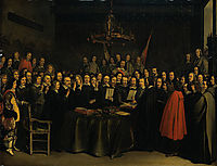 The Swearing of the Oath of Ratification of the Treaty of Munster, 1648, terborch