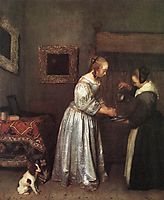 Woman Washing Hands, c.1655, terborch